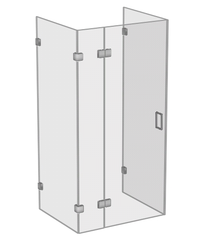 Sided Glass Shower Enclosure