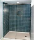 Sliding door shower enclosures