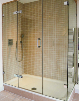 3 sided shower enclosure