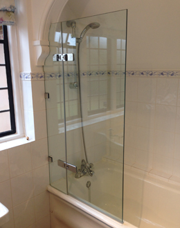 Frameless over-bath shower screens - Shower Power
