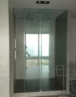A bespoke sliding shower door with a difference our made to measure service put to the test a bespoke sliding shower door with a difference planetlyrics Choice Image