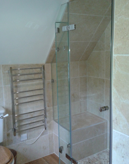 period property frameless shower enclosure