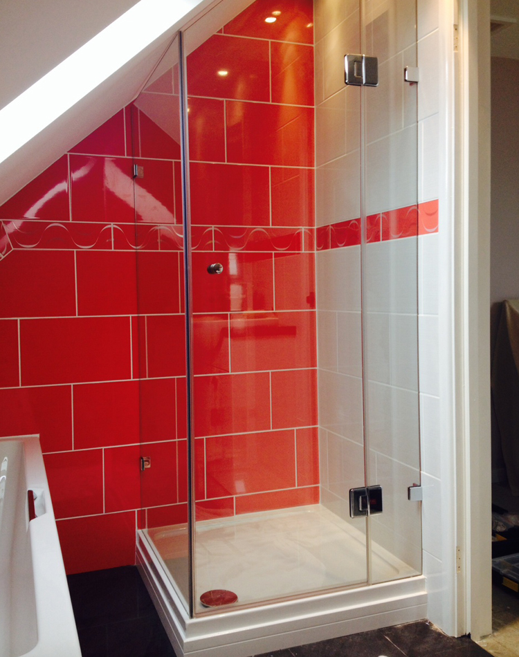 2-sided ensuite loft shower